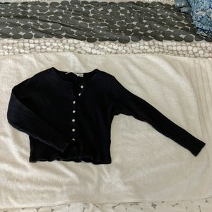 Anne Klein Navy Blue Cardigan Top
